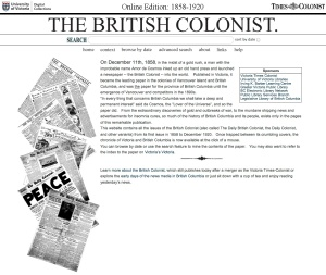 The British Colonist Online Edition 1858 - 1920