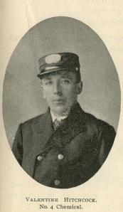 Valentine with the Victoria Fire Department in 1902