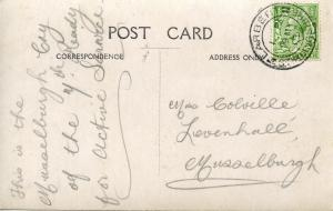 Back of Postcard #1: hand-written notes to a sister