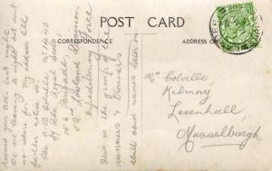 Back of Postcard #2: handwritten note to his mother