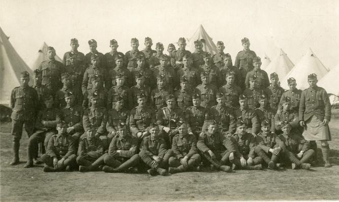 Postcard of the Musselburgh Company, 1/7th Royal Scots