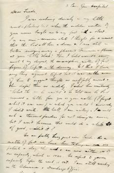 Frank's letter to Frieda (page 1)