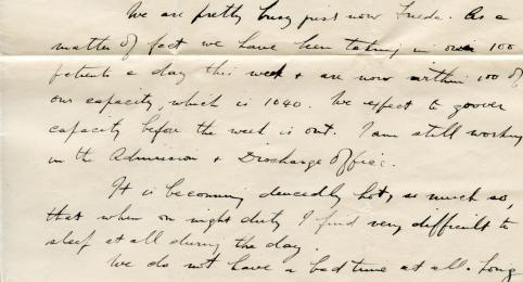 Frank's letter to Frieda (bottom of page 1)