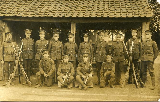 A postcard showing Royal Engineers from the First World War (click to enlarge)