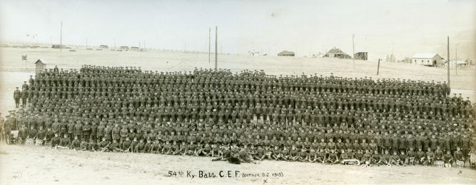 54th Battalion, CEF at Vernon Camp in the summer of 1915