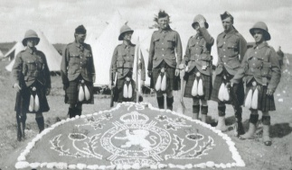 79th Cameron Highlanders of Canada at Sewell Camp in late June 1914