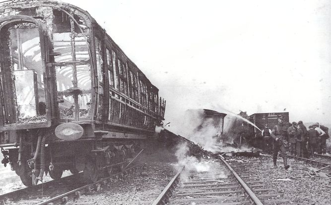 Rail accident Quintinshill, May 22, 1915 near Gretna Green, Scotland (Wikimedia Commons)