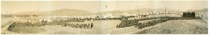 "A Panoramic photograph (45"" x 9"") of the 131st Battalion C.E.F. at Vernon Camp in 1916"