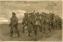 1915 7th Division Christmas card