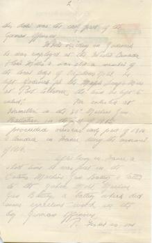 George Fisher letter, page 2