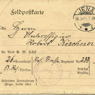 Front of postcard