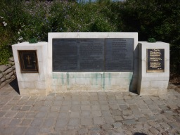 "The memorial to Lt-Col. John McCrae at Essex Farm Cemetery near Ypres. It is believed McCrae composed his famous poem ""In Flanders Fields"" while working in the medical bunkers nearby."