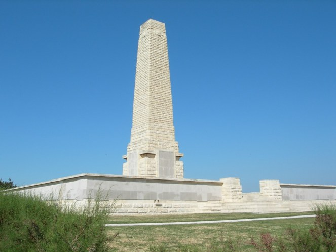 Helles Memorial on the Gallipoli peninsula © CWGC