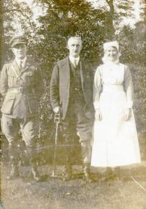 Norah Denny with her father and brother, Henry Allen Maynard Denny