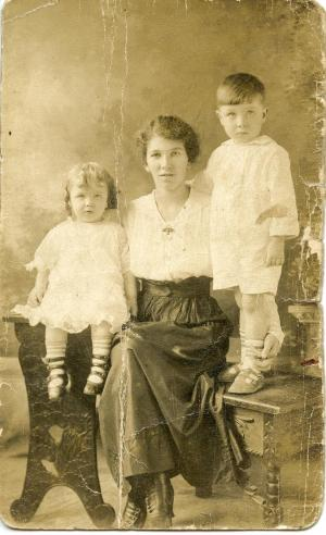 Maggie Fleming with Roy and Edith