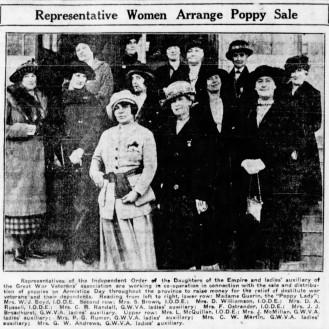Madame Guerin with I.O.D.EOct. 28, 1921 Winnipeg Tribune, p10. © Newspapers.com