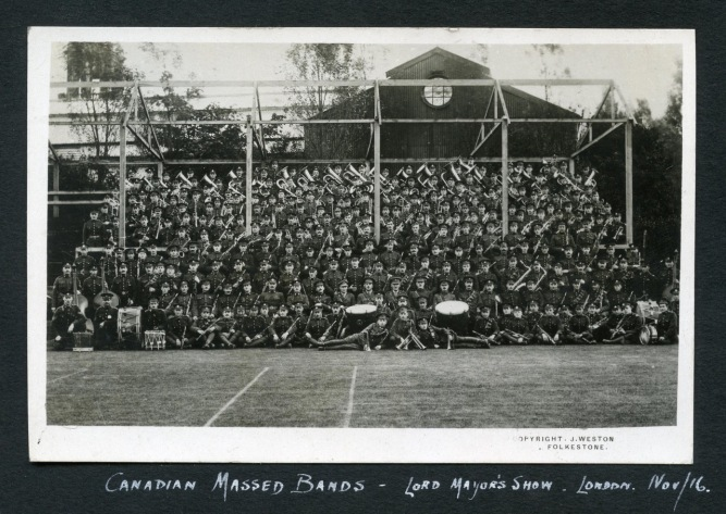 Canadian Massed Bands, Lord Mayor's Show, Nov. 9, 1916
