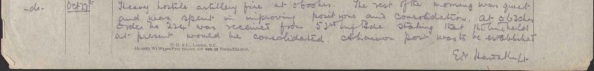 10/Essex War Diary excerpt from Oct. 27th (Source: National Archives)