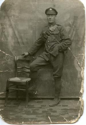 Pte John Fleming at Noeux-Les-Mines in 1917