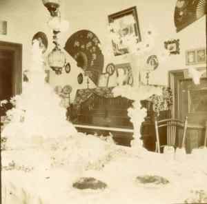 A pre-war photo of the dining room at 162 Robertson Street (sight of the big feed in 1919)