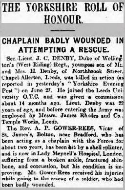 Yorkshire Evening Post, 06 Jul 1917. Source: British Newspaper Archive