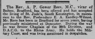 Yorkshire Post and Leeds Intelligencer, 05 Nov 1919. Source: British Newspaper Archive