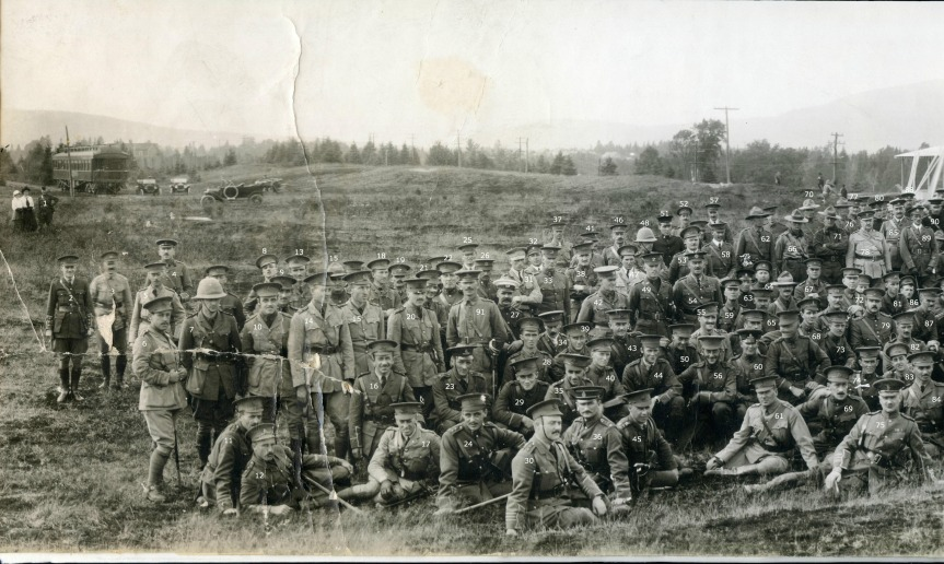 Valcartier Panoramic Photograph taken August 31, 1914 - Section 1 of 6