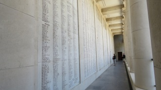 Just some of the 54,395 names of Commonwealth Soldiers