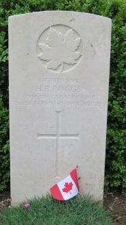 Lt. H.B. Boggs, the first Canadian officer to be KIA in the First World War