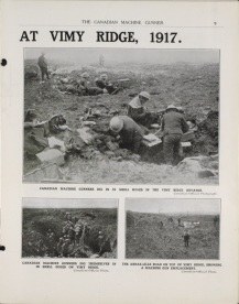 The CMG at Vimy Ridge, CMG Vol. 1 No. 3, June 1917. Source: Library and Archives Canada