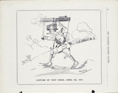 Vimy cartoon, CMG Vol. 1 No. 4, November 1917. Source: Library and Archives Canada