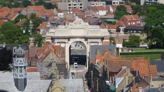The Menin Gate from the Cloth Hall Bell Tower