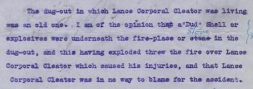 Major R.E. Vence's conclusion