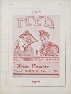 "One of eight digitized issues of ""N.Y.D."" published by No. 1, 2 & 3 Canadian Field Ambulance. Source: Library & Archives Canada"