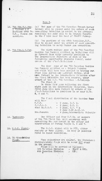 Operational Order No. 70 p5 (Source: Library & Archives Canada)
