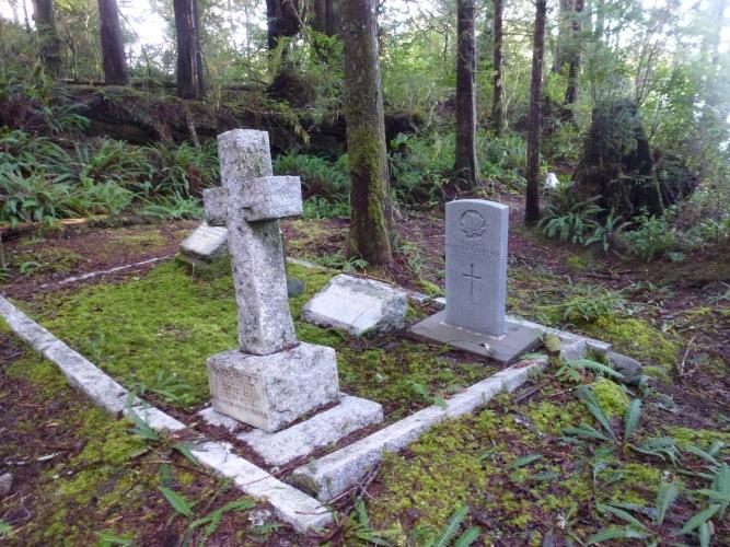 The Garrad Family plot near the entrance to the Morpheus Island Cemetery