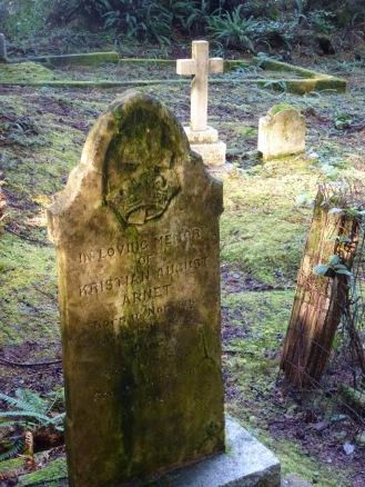 The grave of Kristian August Arnet, Morpheus Island Cemetery