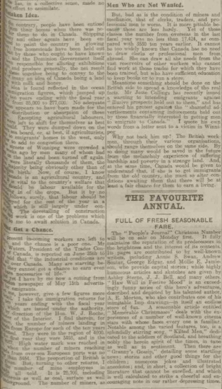 People's Journal part 2, 30 October 1915 (source: https://www.britishnewspaperarchive.co.uk)