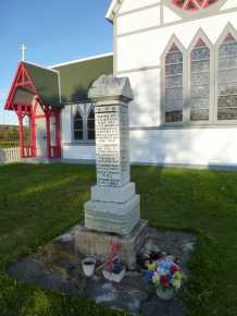 The war memorial in Trinity, Newfoundland