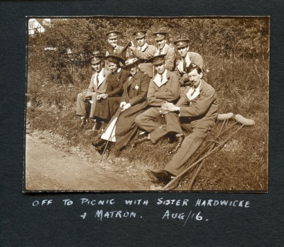 Off on picnic with Sister Hardwicke and Matron