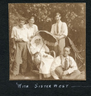 John Denholm and others with Sister West
